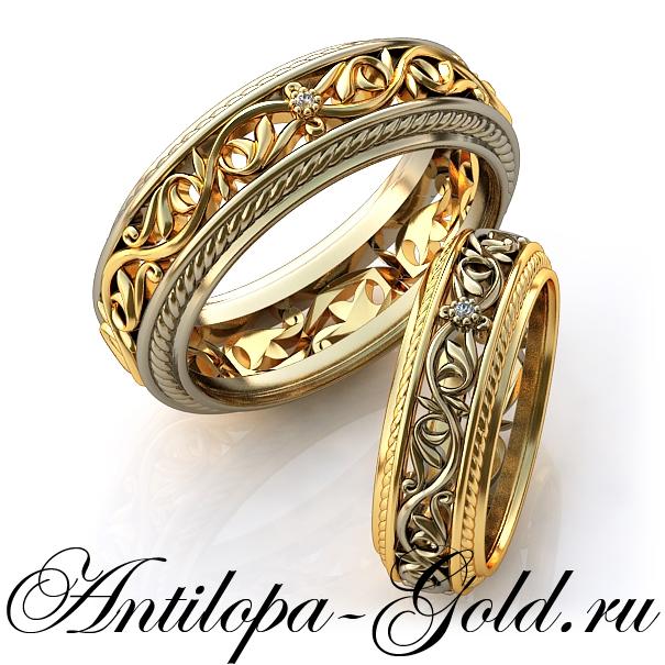 массивные золотые кольца