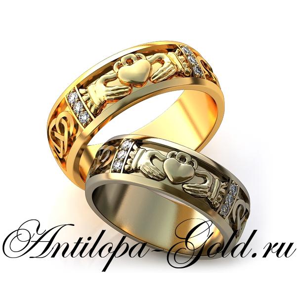 7de592453fce Кладдахское кольцо золотое с бриллиантом фото