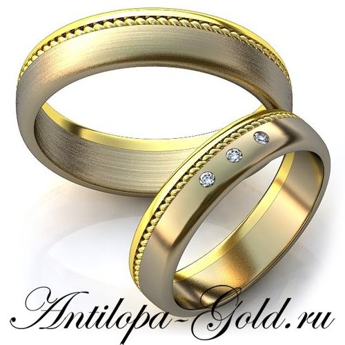 Обручальные классические кольца парные