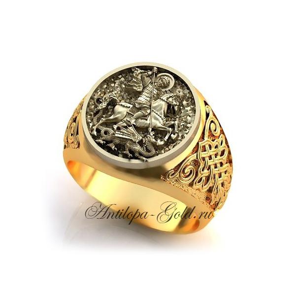 Золотая печатка со знаком зодиака